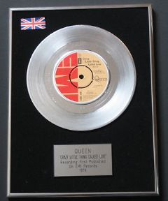 QUEEN - Crazy Little Thing Called Love PLATINUM single presentation Disc